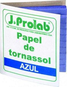 Papel de Tornassol, azul (ácido), cartela com 100 tiras, mod.: 3700-2 (J.Prolab)