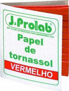 Papel de Tornassol, vermelho (alcalino básico), cartela com 100 tiras, mod.: 3701-9 (J.Prolab)