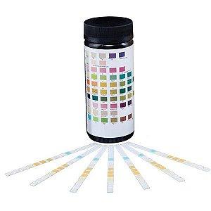 Tiras reagentes para análise urinária (Uroanálise), 10 parâmetros, frasco com 100 tiras (SENSITIVE)