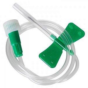 Escalpe para coleta de sangue com seringa 21G, caixa com 100 unidades, mod.: ESPE21G7 (Vacuplast)