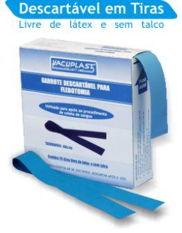 Garrote descartável para flebotomia, comprimento de 36 cm, caixa com 25 tiras, mod.: GRL36 (Vacuplast)