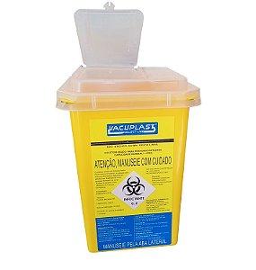 Coletor Material PerfuroCortante 1 litro, Com Símbolo Infectante, Recipiente Rígido, unidade, mod.: PERFU1 (Vacuplast)