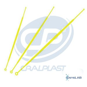 Alça 1 uL descartável e estéril, individual, Caixa c/ 900 unidades, mod.: 182861P (Cralplast)