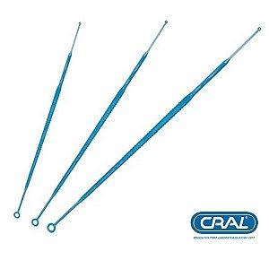 Alça 10 uL descartável e estéril, individual, pacote com 100 Unidades, mod.: 182881P-PCT (Cralplast)