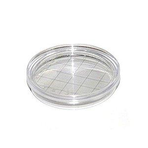 Placa de Petri para microbiologia 60x15mm, tipo Rodac, estéril, pacote com 10 unidades, mod.: 17510E (Cralplast)