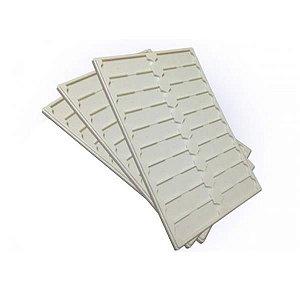 Bandeja Plástica para leitura de lâminas, capacidade para 20 peças, unidade, mod.: BP20L (CRALPLAST)