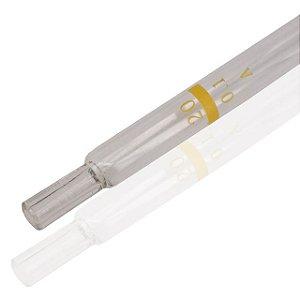 Pipeta Sorológica de vidro, capacidade de 20mL, caixa com 10 unidades, mod.: P20ML (Precision)