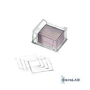 Laminula de vidro óptico para câmara de Neubauer, 20x26 mm, caixa com 50 unidades, mod.: P20X26 (Precision)