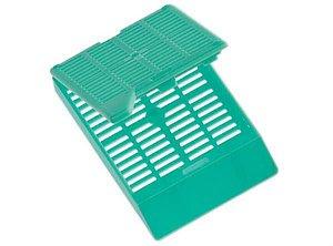 Cassete para biopsia (automação) verde, rack com 75 unidades, caixa com 3000 unidades, mod.: 4305 (Cralplast)