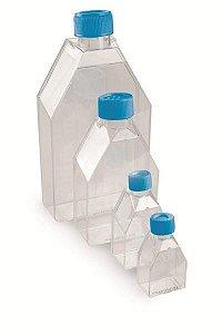 Frasco para cultivo celular, PS, com filtro, 250 mL (75 cm²), pacote com 5 unidades, mod.: FCC75CF (Bionaky)