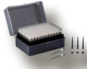 Ponteira com filtro, tipo Gilson, capacidade de 10 uL, estéril, rack com 96 unidades, mod.: 1001 (Bionaky)
