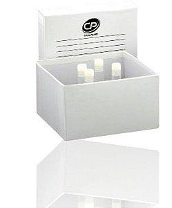 Caixa fibra de papelão com 81 furos para armazenar tubo de 1,5 à 2 mL, unidade, mod.: CP81-2P (Cralplast)