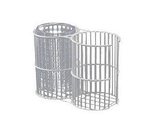 Suporte duplo de arame revestido em PVC, capacidade para 16 placas de petri 90x15mm, mod.: S9015 (Cral)