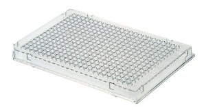 Microplaca de PCR 384 Poços, sem borda, poço elevado, caixa com 50 unidades, mod.: PCR-384-C (Axygen)