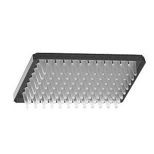 Microplaca de PCR 96 poços, meia borda, cor preta, pacote com 10 unidades, mod.: PCR-96M2-HS-BK (Axygen)