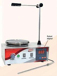Agitador Magnético com aquecimento, velocidade entre 30 e 2400 RPM 220V, mod.: HJ-10-220V (Satra)