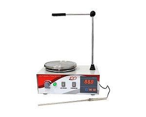 Agitador Magnético com aquecimento, velocidade entre 30 e 2400 RPM, 4L, 110V, mod.: HJ-4-110V (Ion)