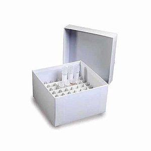 Caixa de armazenamento em fibra de papelão para 49 tubos de 15 mL, mod.: K30-4915 (Kasvi)