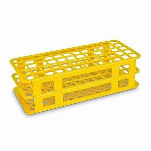 Estante tipo grade, PP, para 90 tubos de 13 mm, alfanumérica, amarelo, unidade, mod.: K30-9013Y (Olen)