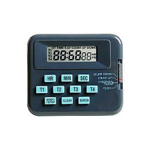 Timer Digital 4 Canais Independentes, Contagem Regressiva, mod.: K30-004 (Kasvi)
