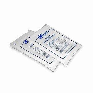 Sacos para autoclave em PEAD, capacidade de 60L, 60x80 cm, pacote com 20 unidades, mod.: K30-0160 (Olen)
