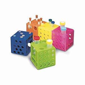 Rack tipo cubo, PP, autoclavável, cores sortidas, unidade, mod.: K30-044 (KASVI)