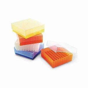 Rack para 81 tubos criogênicos/microtubos de 1,5 mL e 2,0 mL, cores sortidas, mod.: K30-081 (Kasvi)