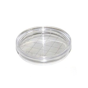 Placa de Petri para microbiologia 60x15mm, tipo Rodac, estéril, pacote com 10 unidades, mod.: NEORODAC (Neolab)