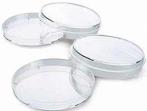 Placa de Petri para microbiologia, 90 x 15 mm, estéril, pacote com 10 unidades, mod.: NLD9015 (Neolab)
