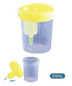 Coletor Urina Sistema Transferência 120 mL, Estéril, unidade, mod.: CLT120UV-UND (Cralplast)