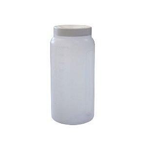 Coletor Urina 24 Horas 1 litro, Não Estéril, Frasco Transparente e Tampa Branca, Graduado, unidade, mod.: CLT24H1LT-UND (Cralplast)