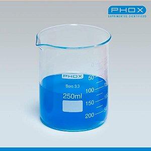 Copo Béquer Forma Baixa em Borossilicato de 2.000 mL, unidade, mod.: 1101-2000 (Phox)