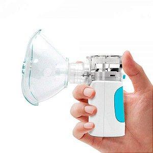 Inalador e Nebulizador de Rede Vibratória com Máscaras Adulta e Infantil, Bateria, unidade, mod.: NEBMESH1 (G-Tech)