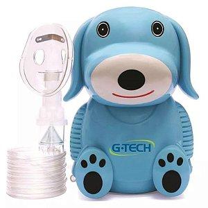 Inalador e Nebulizador com Máscara Infantil, Azul, Bivolt, unidade, mod.: NEBDOGAZ (G-Tech)