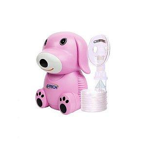 Inalador e Nebulizador com Máscara Infantil, Rosa, Bivolt, unidade, mod.: NEBDOGRS (G-Tech)