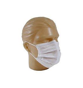 Máscara cirúrgica descartável com elástico, pacote com 50 unidades, mod.: 110701 (Descarpack)