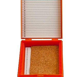 Caixa Plastica Porta 25 Lâminas, Trava de Pressão, Dobradiças, Fendas, Numeradas para Identificação, mod.: NLD541 (Neoplast)