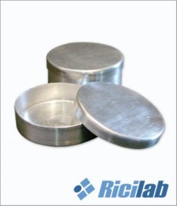 Placa de Petri em alumínio, 100x20mm, com tampa, unidade, mod.: RIC06710020 (Ricilab)