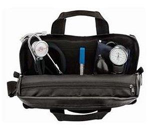KIT Estudante: Bolsa especial + 01 Esfig. Velcro + 01 Rappaport Preto + 01 Garrote Adulto + Termômetro digital branco, mod.: KITESTPPTH (Premium)