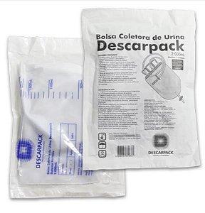 Bolsa Coletora de Urina, Sistema Fechado, 2000 mL, Estéril, Unidade, mod.: 490101 (Descarpack)