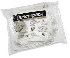 Touca descartável com elástico branca sanfonada, Pacote com 100 unidades, mod.: 93201 (Descarpack)