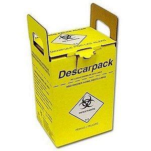 Coletor Material Perfurocortante 13,0 litros, em Papelão, caixa com 20 unidades, mod.: 0160301 (Descarpack)