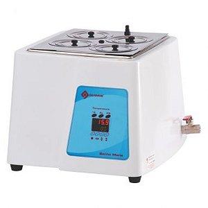Banho Maria de 8 bocas microprocessado, 22 litros, 220V, mod.: Q334M-28 (Quimis)