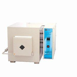 Forno Mufla microprocessado, Temperatura de 300ºC a 1200ºC, Dimensões da Câmara de 15x12x10cm, 220V, mod.: Q318M21 (Quimis)