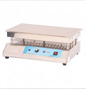 Chapa aquecedora plataforma de aço inox retangular 30x40cm, 220V, mod.: Q313I1 (Quimis)