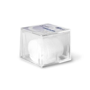 Lamínula circular 13 mm, vidro translúcido super transparente, caixa plástica com 100 unidades, mod.: K5-0013 (Olen)