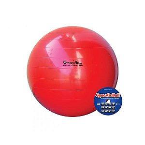 Bola para exercícios, 55 cm, vermelha, com DVD de exercícios e bomba para encher, mod.: BL.01.55 (Carci)