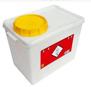 Coletor Rígido para Resíduos Quimioterápicos, 13 litros, Unidade, mod.: 0144301 (Descarpack)