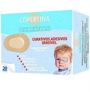 Curativo adesivo sensível ocular infantil, estéril, tamanho 50x62mm, caixa com 20 unidades, mod.: COPE20IO (Copertina)