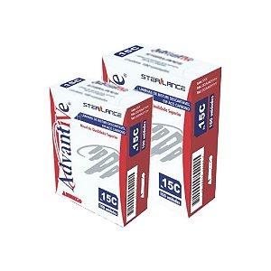 Lâmina de Bisturi nº  21, Aço Inox, Estéril caixa com 100 unidades, mod.: LAMBI21I004 (Advantive)